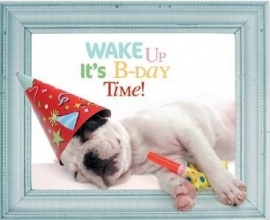 Wenskaart Wake Up it's party time