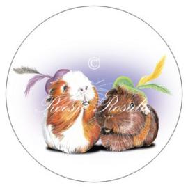 Sticker Cavia Pieten Olivia & Muffin ( 4 stuks)