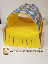Vrijstaande Hangmat Set staander met schuil hangmat / tunnel Cavia Print Popcorn