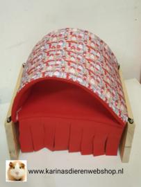 Vrijstaande Hangmat Set staander met schuil hangmat / tunnel Cavia Print Brandweer