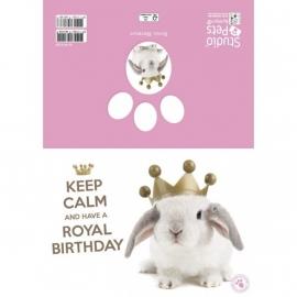 Keep Calm and have a Royal Birthday kaart