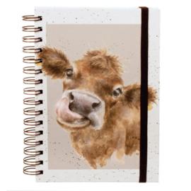 """A5 Notitieboek Spiraal Koe """"Mooo"""" Wrendale Designs"""