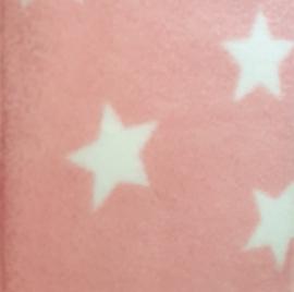 """Hangmat  """"knaagdier"""" fleece roze met witte sterren"""