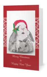 Kerst kaart Konijnen Duo