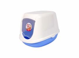 Katten Toilet  duchesse Blauw/wit