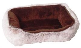 Divan Bed Pluche Bruin