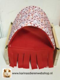 Vrijstaande Hangmat Set staander met schuil hangmat / tunnel Cavia Print Lieveheersbeestje
