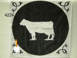 Keukendoek Koe Zwart Wit 2