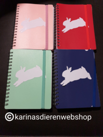 Notitieboekje Springend konijn roze