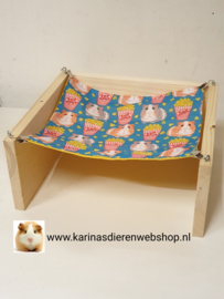 Vrijstaande Hangmat Set staander met 1 matje Cavia Print Popcorn