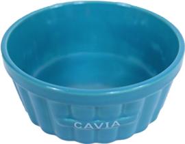 Cavia eetbak steen ribbel blauw, 12 cm
