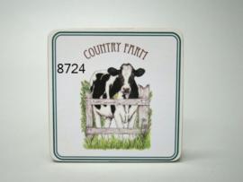 Onderzetter Koe Country Farm 4 stuks