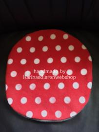 Losse Hoes ø 26 cm voor Kruik XL : rood met witte stippen