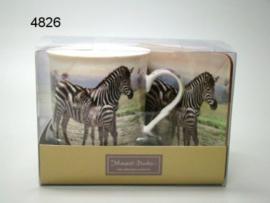 Mok Met Onderzetter Zebra