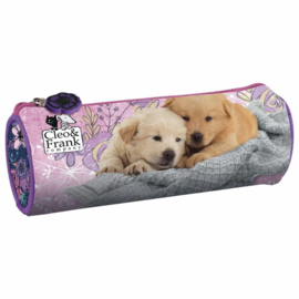 Cleo & Frank Rond Etui Puppy Friends