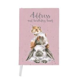 Adresboek & Verjaardagsboek Cavia Konijn Hamster Wrendale Designs