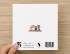 Kerstkaart Cavia Kaart Charlie & BenBen