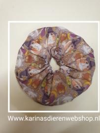 Haar Frutsel /  Scrunchie met Cavia Print Halloween