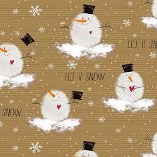 Inpak papier Kerst Sneeuwpop ... 1 meter