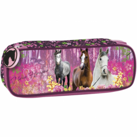 Animal Pictures Etui Paarden Forest - 21 x 7 x 5 cm - Polyester