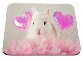 Muis mat computer konijn hartjes