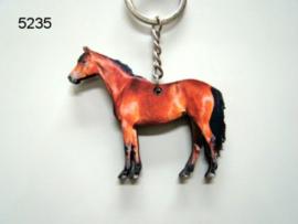 Houten paarden sleutelhanger