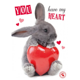 "Konijn Kaart ""You have my heart"""