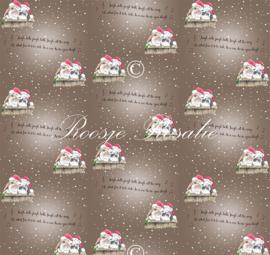 Kerst cadeaupapier Konijnen Flapje & Ollie