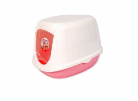Katten Toilet  duchesse Roze wit