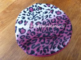 Losse Hoes ø 26 cm voor Kruik XL : Velboa dierenprint roze