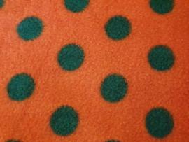 """Hangmat  """"knaagdier"""" fleece rood met zwarte stippen"""