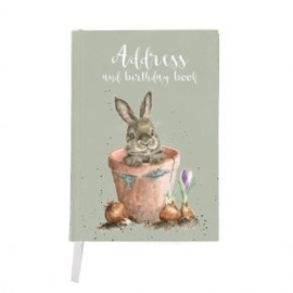 Adresboek & Verjaardagsboek Konijn Wrendale Designs