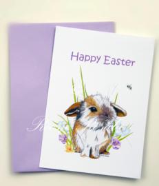 Kaart Pasen Kleintje konijn