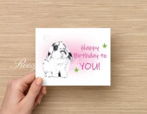 """Kaart Konijn Bibi Verjaardag """"Happy Birthday to you """""""