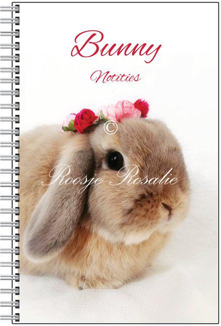 Notitieboekje Konijn Isabella met Roosjes