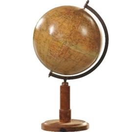 "Antieke globes /  ""Prof. Dr. A. Krause Wereld - Globe""  op houten voet (No.123069)"