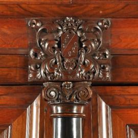 Antieke kasten / Betoverende Hollandse kolommenkast / kussenkast in palissander met ebbenhout ca. 1700  (No.441715)