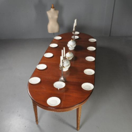 Antieke tafels /Coulissentafel  ovaal tot 5,41 m te vergroten ca. 1910 (No.300755)