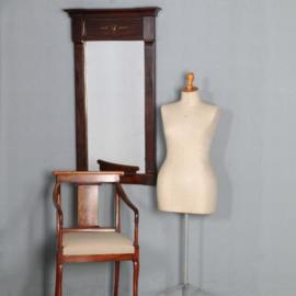 Antieke spiegels / Empire schouwspiegel in mahonie met authentiek glas, brons ornament en lijstwerk ca. 1810 (No.602126)