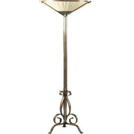 Antiek varia / Art Deco staande schemerlamp of vloerlamp ca. 1925 met zijde bespanning (No.989963)