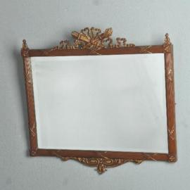 Antieke spiegels / Houten spiegellijst ca. 1910 met gegoten ornamenten en profiellering  (No.531461)