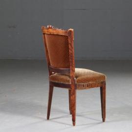Antieke stoelen / Stel van 8 Hollandse Louis Seize stoelen ca. 1800 incl stoffering naar wens (No.570551)