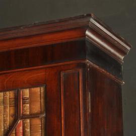 Antieke kasten / Reusachtige 2,56 hoge strakke Georgian III mahonie boekenkast ca. 1815 (No.421362)