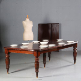 antieke tafels / Engelse Victoriaanse mahonie coulissetafel in oude kleur ca. 1890 (No.520513)