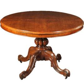 Antieke tafels / Grote tilttoptable ovaal wortelnoten ca. 1860 Engeland (No.472060)