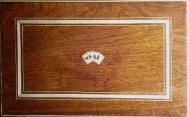 Antiek varia / palissanderhouten fichesdoos(Item No. 9896)