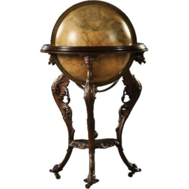 Antiek Varia /Grote bibliotheek globe in gietijzer frame eind 19e eeuw (No.123057)