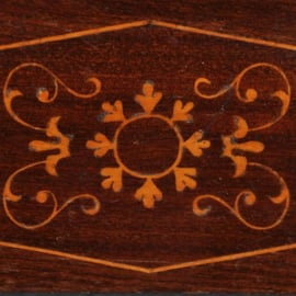 Antieke spiegels / Franse Louis Philippe schouwspiegel ca. 1815 met inlegwerk (No.411557)