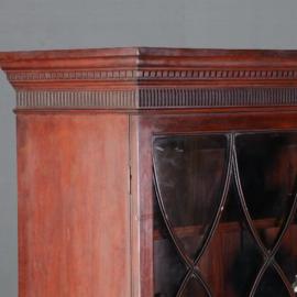 Antieke kasten / mahonie boekenkast /servieskast met uitklapbaar werkblad ca. 1875 (No.581653)