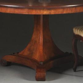 Antieke tafels / Hollandse Biedermeier sluierpoottafel in mahonie ca. 1825 (No.302851)
